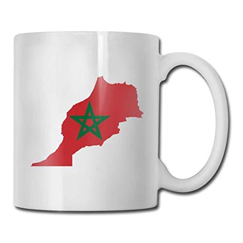 Mapa de la bandera de Marruecos Simple?¢ Fácil?¢ Hermosas y prácticas tazas