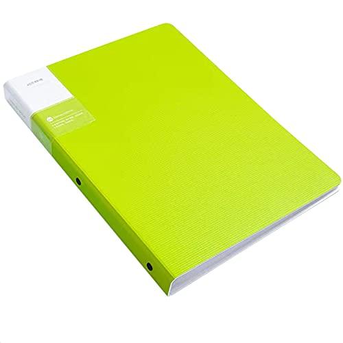 Ptom 2 carpetas archivadoras Qrdner A4, ampliación para varios bolsillos, de polipropileno, organizador de archivos escolar o de oficina, 23 x 31 cm (verde-40)