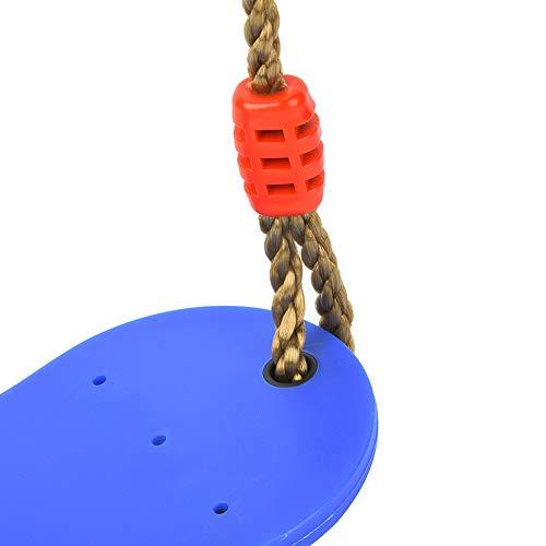 Alomejor Kinder Schaukelsitz Hochleistungsschaukelsitz Eva Soft Board Outdoor Schaukelstuhl für Indoor Outdoor Schaukel Zubehör(Blau)