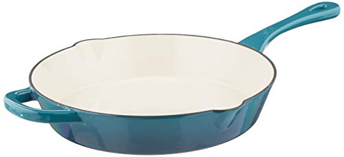 Crock Pot Artisan Cast Iron Skillet 12 Inch Teal