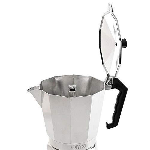 Oryx 5056010 Cafetera Aluminio 2 Tazas, 100 ML