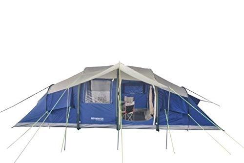NEUMAYER - AUFBLASBARES Familien-Zelt - Air-Rise-Technik - Modell Tahiti - 2-4-6-8-Personen-Zelt - 7m x 2,8 m - 19,6 qm Grundfläche - 2 getrennte Schlafkabinen + Aufenthaltsraum mit 2m Stehhöhe…