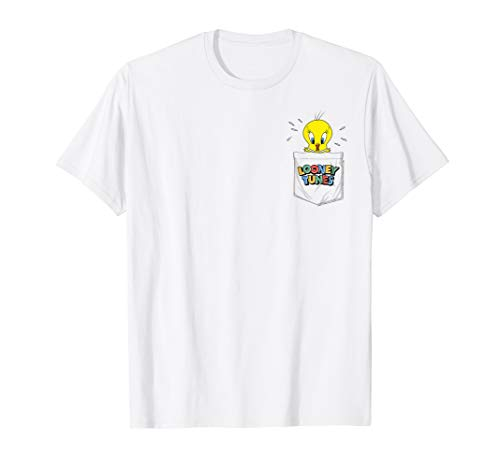Looney Tunes Tweety Bird Faux Pocket T-Shirt