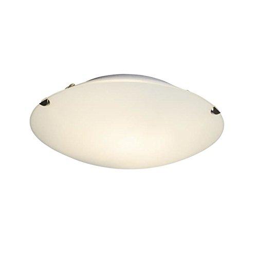 BRILLIANT Applique/plafonnier en verre blanc opale Melania