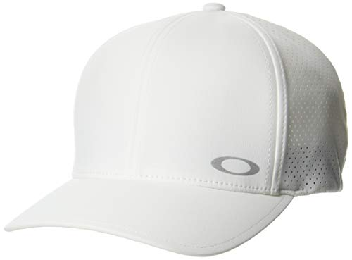 Oakley Aero Perf Trucker Hat Gorro/Sombrero, Blanco, L/XL para Hombre