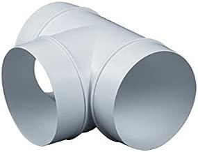plateado Conducto de tubo T Pieza Conector metal T Conjunta aluminio ventilaci/ón tubo manguera