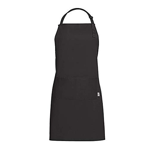 GLGSHOULIAN Tablier Femme,Dames Noir Mode Tout-Match Tablier Home Kitchen Chef Tabliers 100% Coton Lady Tablier Restaurant Cuisine Cuisson Robe Mode Tablier Réglable avec Poches