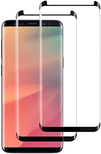 Protector de pantalla de cristal templado para Samsung Galaxy S7 Edge, S8, S8+, S9, S9+cero burbuja (curvas 3D)