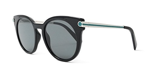 SALVATORE FERRAGAMO Gafas de Sol SF 831S Black Silver Striped Green/Light Grey 51/19/140 mujer