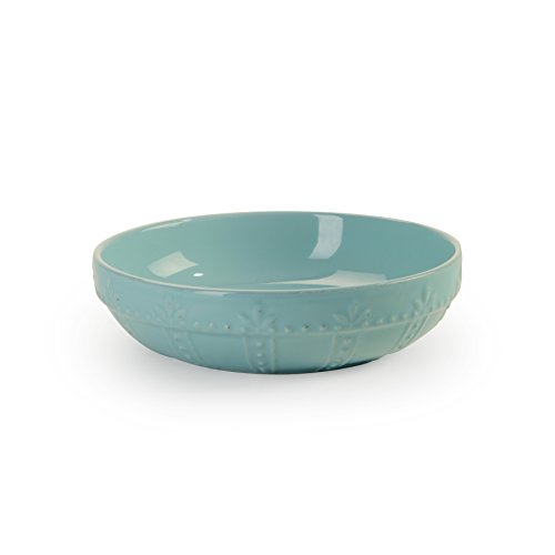 Signature Housewares Sorrento Collection Set of 4 Pasta Bowls, 8-Inch, Aqua