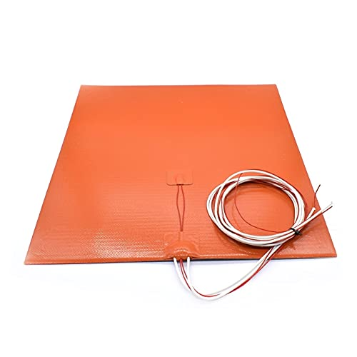 Precise Silicone Heated Bed Heating Pad Waterproof 220/300x300/310/235/400 Mm 12V/220/110 V For 3D Printer Parts Bed tight (Size : 220mm 220V 500W)