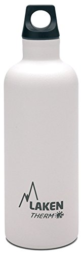 Laken Futura Botella Térmica de Acero Inoxidable 18 8 y Aislamiento de Vacío con Doble Pared, Blanco, 750 ml
