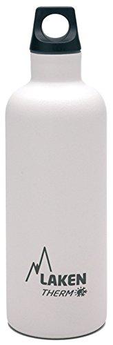 Laken Futura Botella Térmica de Acero Inoxidable 18/8 y Aislamiento de Vacío con Doble Pared, Blanco, 350 ml