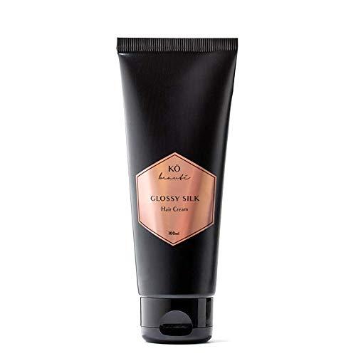 Glossy Silk Cream Haarpflegecreme Leave-in mit Moringaöl 100 ml für widerspenstiges und störrisches Haar, leichte Kämmbarkeit, ohne Silikone, mehr Textur und Griffigkeit, verbessertes Styling