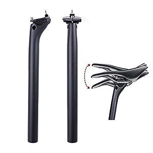 Tija de sillín de Carbono 27,2 mm / 31,6 mm, tija de sillín de Bicicleta Ajustable, súper Ligera MTB tija de sillín, Adecuado para Tubo de Asiento de montaña y Carretera BMX (UD 27.2 * 400)