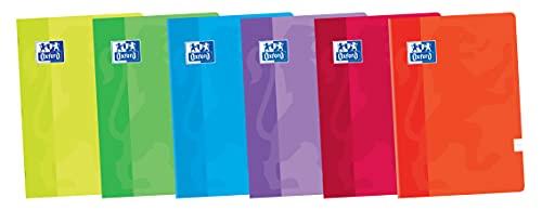 Oxford, Libretas A5+ de Rayas, Tapa Blanda, Pack de 10 Unidades, 48 Hojas, Colores Surtidos