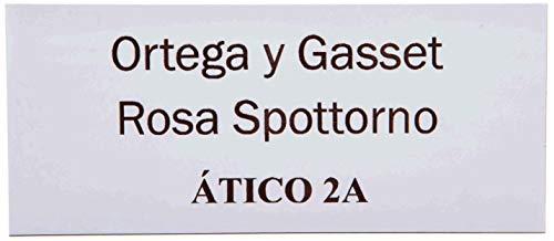 Placas Buzón de Aluminio Blanco y Grabado Negro. Cinta autoadhesiva. Grosor 0,5mm y tamaño máximo 100x40mm
