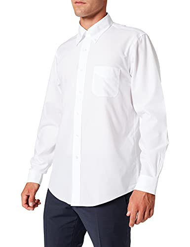 Brooks Brothers Camicia Milano Manica Lunga Chemise Business, Blanc (White 100), X-Large (Taille Fabricant: 17 35) Homme