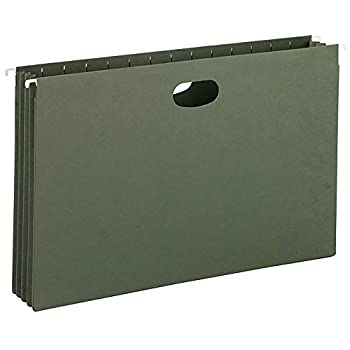 Smead Hanging Pocket with Full-Height Gusset 3-1/2  Expansion Legal Size Standard Green 10 per Box  64320