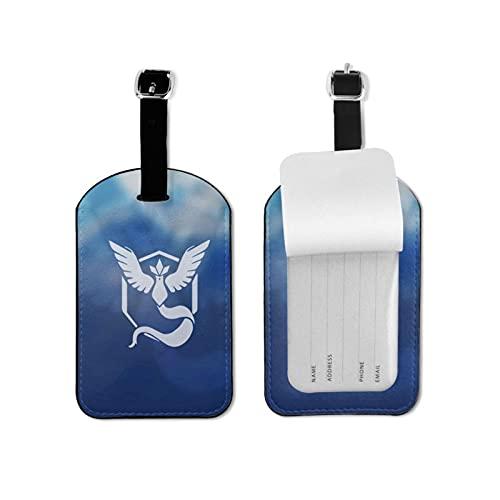 Etiquetas para equipaje de viaje Po-ke-mon Go para viajeros inteligentes, lo mejor para evitar la pérdida de bolsas y maletas de microfibra de piel sintética