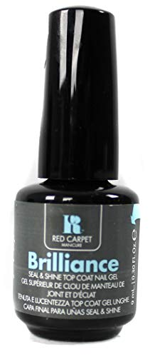 RC Red Carpet Manicure LED Nail Gel, Brilliance Seal & Shine Top Coat