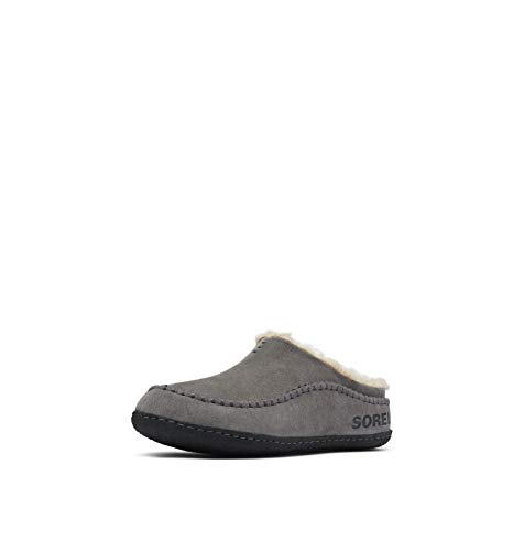 Sorel - Men's Falcon Ridge II House Slippers with Suede Upper and Wool/Polyester Lining, Quarry, Black, 9 M US