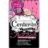 【ユニ・チャーム】センターイン コンパクト フレグランス ふわふわタイプ 多い日の昼用 ハネつき スイートフローラルの香り 8枚 ×5個セット