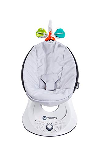 4moms rockaRoo Baby Swing, Compact Baby Rocker with Front to Back Gliding Motion, Smooth, Nylon Fabric, Grey Classic