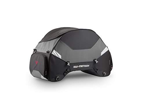 Motorrad-Hecktasche Racepack, 50-65 Liter, schwarz/grau, Ballistic Nylon, verstärkte Konstruktion