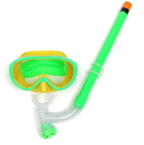 FLAUU Duikbril Ademhalingsbuisset, transparant gehard glas lens, niet-giftige siliconen mond en reinigingsventiel, voor kinderen 6-12 jaar