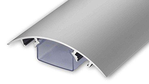 TV Design Aluminium Kabelkanal in silbermatt eloxiert in verschiedenen Längen von ALUNOVO (Länge: 120cm)