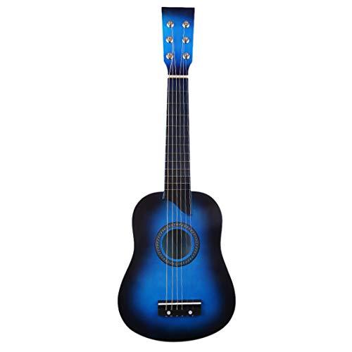 6 snaren houten gitaar Muziekinstrument Trainingspraktijk gitaar speelgoed cadeau voor kinderen Beginner, 25 inch (Blauw)