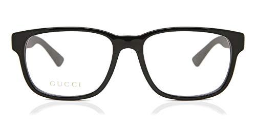 Gucci GG 0011O 001 Black Plastic Square Eyeglasses 53mm