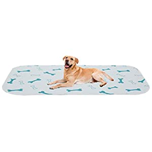 Brabtod 2 Pack Non-Slip Dog Crate Mat Pee Mat for Pets Dogs Washable Dog Pads with Fast Absorbent Puppy Training Pads