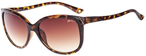 RELAX Gafas de Sol Mujer Anteojos para el Sol de Señora R0304A Marrón