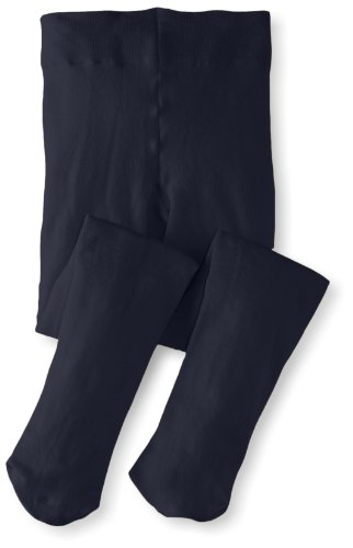 Jefferies Socks Big Girls'  Pima Cotton Tights, Navy, 6-8 Years