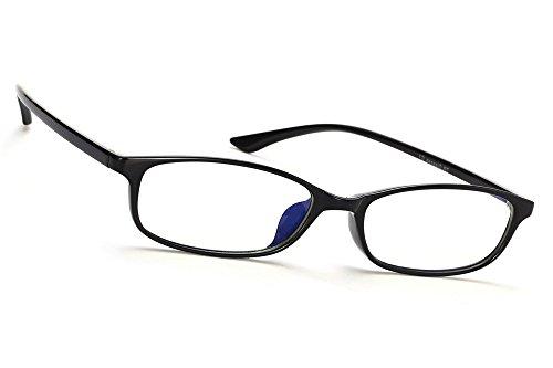 MFAZ Morefaz Ltd Damen Herren Blaulichtfilter Brille Blendschutz, Anti, Kratzfestes Objektiv Computer TV Anti Glare Glasses (Black 8041)