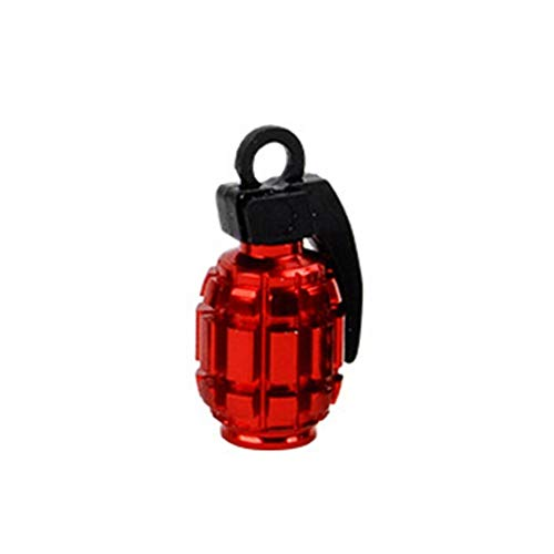 LINGNING 4 unids/Lote Universal Coche Neumático de la Rueda de la Rueda de la Rueda Tallos de Aire Tallos de Polvo Cubierta de Polvo Moto Moto Bike Styling Stems Auto Calcomanía (Color : Red)