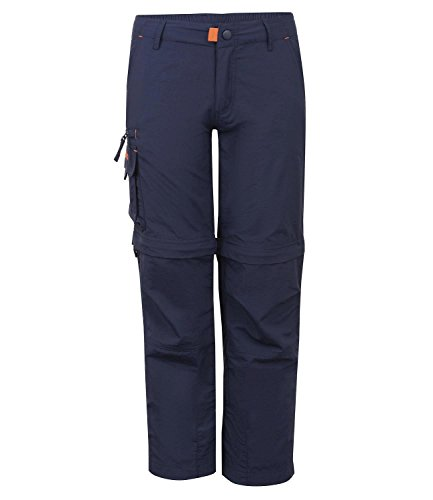 Trollkids Quick-Dry Zip-Off Hose Oppland, Marineblau, Größe 134