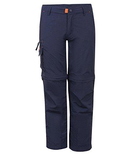 Trollkids Quick-Dry Zip-Off Hose Oppland, Marineblau, Größe 152