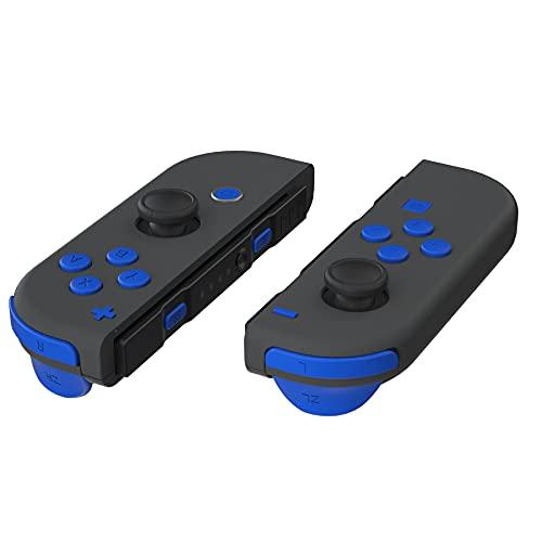 eXtremeRate Kit Pulsanti SR SL L R ZR ZL ABXY Tasti Direzionali Trigger Grilletto Ricambio per Nintendo Switch Joy-Con(Blu)con Cacciaviti-NON Inlcude JoyCon