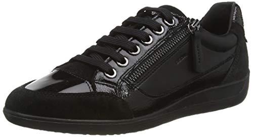 Geox Damen D MYRIA A Sneaker, Schwarz (BLACKC9999), 38 EU