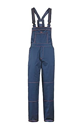 Primo - Pantalones con Peto de Trabajo para Hombre - Azul 62