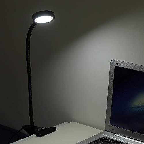 Clip USB tipo cuello de ganso LED, LampsDesk Lamps360 ° Eyecare estudiantes trabajo escritorio lámpara