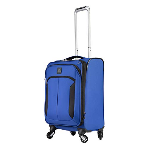 Skyway Mirage 3.0 Softside Lightweight Luggage Collection (Real Blue, 20-Inch)