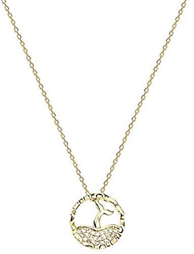 BEISUOSIBYW Co.,Ltd Collar Collar de Anillo de Cola de pez Regalo de Cadena de Cono dominante Femenino