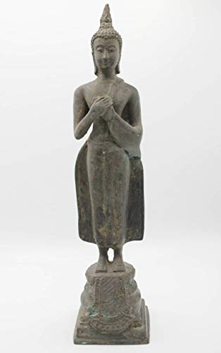 Wochentags Buddha Bronze Figur Freitag (36 cm) Thailand Sukhothai Statue - Asien LifeStyle