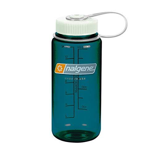 NALGENE ナルゲン 広口 0.5L TRITAN プラスチックボトル 水筒 MADE IN USA(91175 TROUT GREEN) ジャグキャップ登山 サイズ