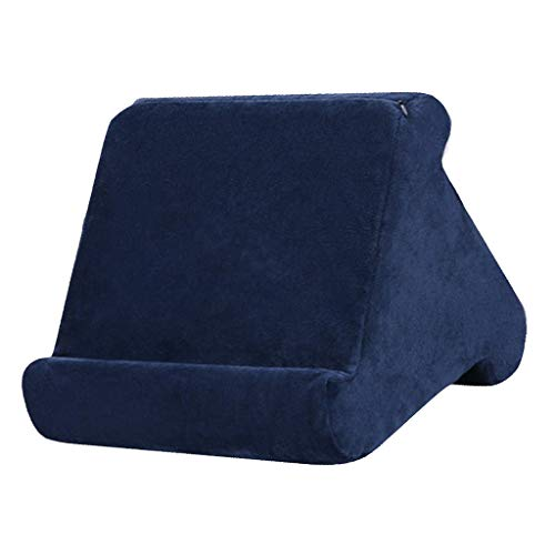 FLAMEER Tablet Pillow Stands for Pad Book Reader Holder Rest Laps Reading Cushion - Dark Blue