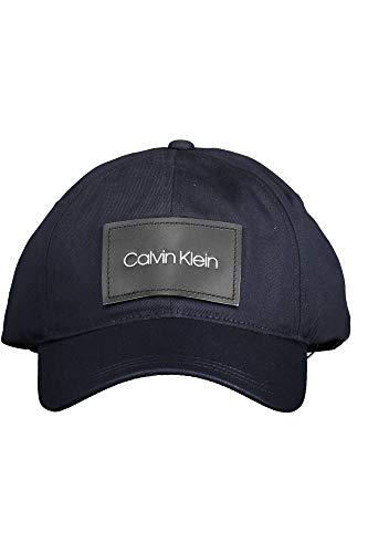 Calvin Klein Leather Patch BB Cap Gorra de béisbol, Azul (CK Navy Cef), One Size para Hombre